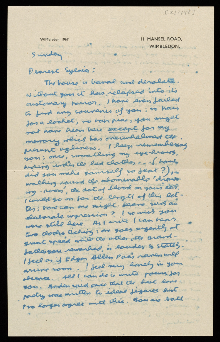 Letter from Lawrence Alloway to Sylvia Sleigh, February 2, 1948