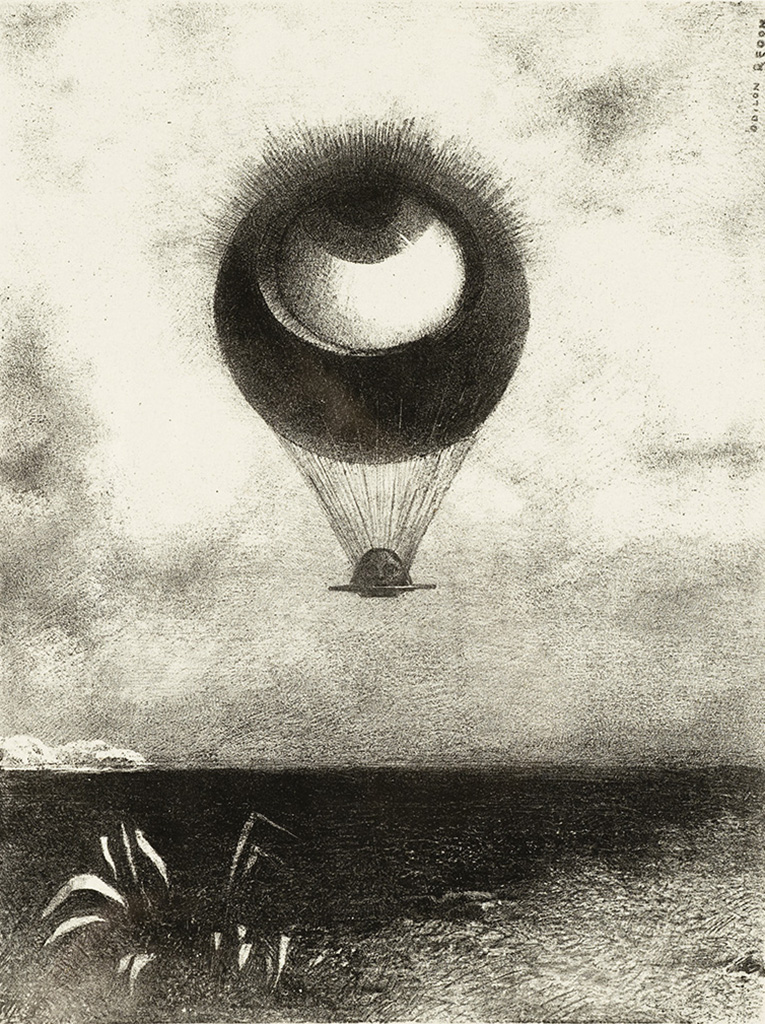 The Eye, Like a Strange Balloon, Mounts toward Infinity / Odilon Redon