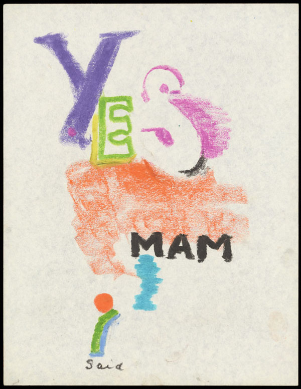 Untitled (Yes Mam I Said) / Barbara T. Smith