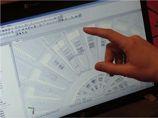 An example of data capture used to prepare the 3D model of Centennial Hall.