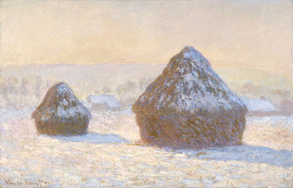 Wheatstacks, Snow Effect, Morning / Claude Monet