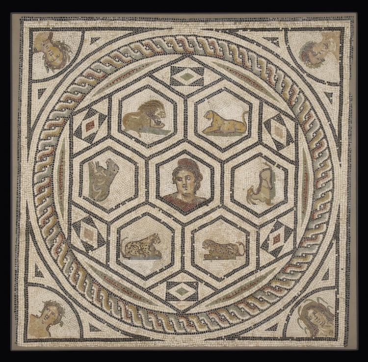 Mosaic Floor Central Panel, 150 - 200, Gallo-Roman. Gift of J. Paul Getty.