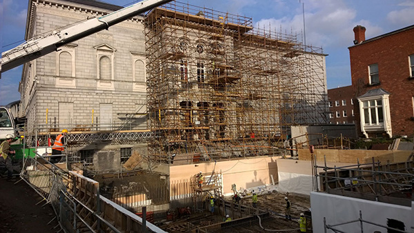 Refurbishment works of the NGI historic buildings on Merrion Square, due for completion in 2017.