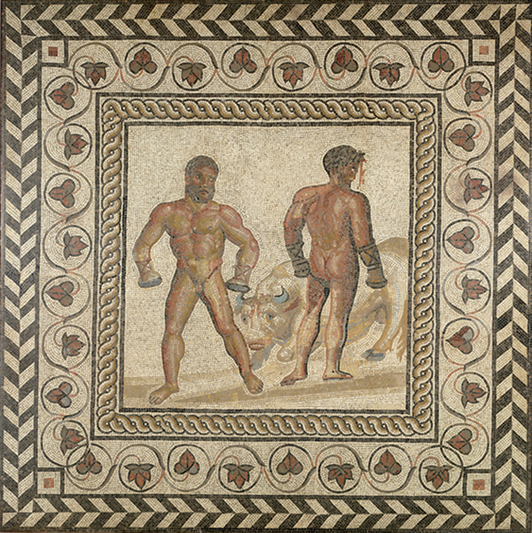 Mosaic Floor with a Boxing Scene
