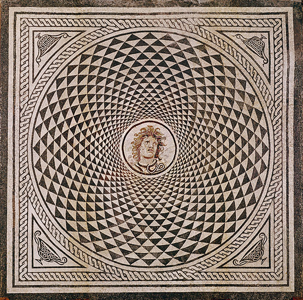 Mosaic Floor with Head of Medusa / Roman