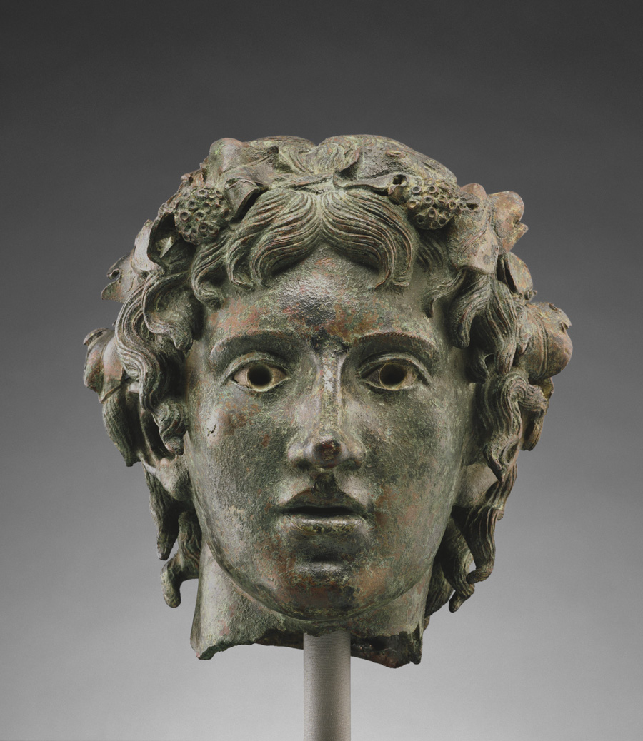Head from a Statue of the Young Bacchus