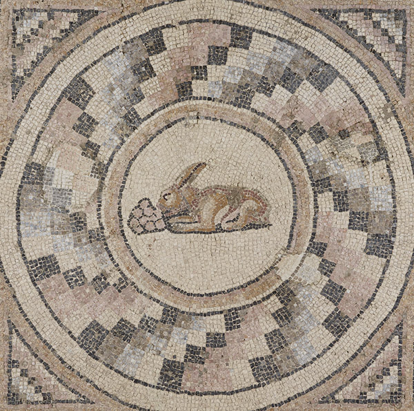 Rabbit With Grapes From A Mosaic Floor From Antioch / Roman