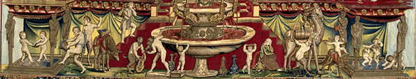Detail of the bottom section of the Triumph of Bacchus.