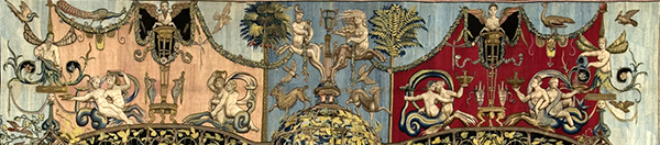 Detail of the top section of the Triumph of Bacchus