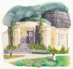 <em/>Griffith Observatory, Tayen Kim. Watercolor. Courtesy of and © Tayen Kim