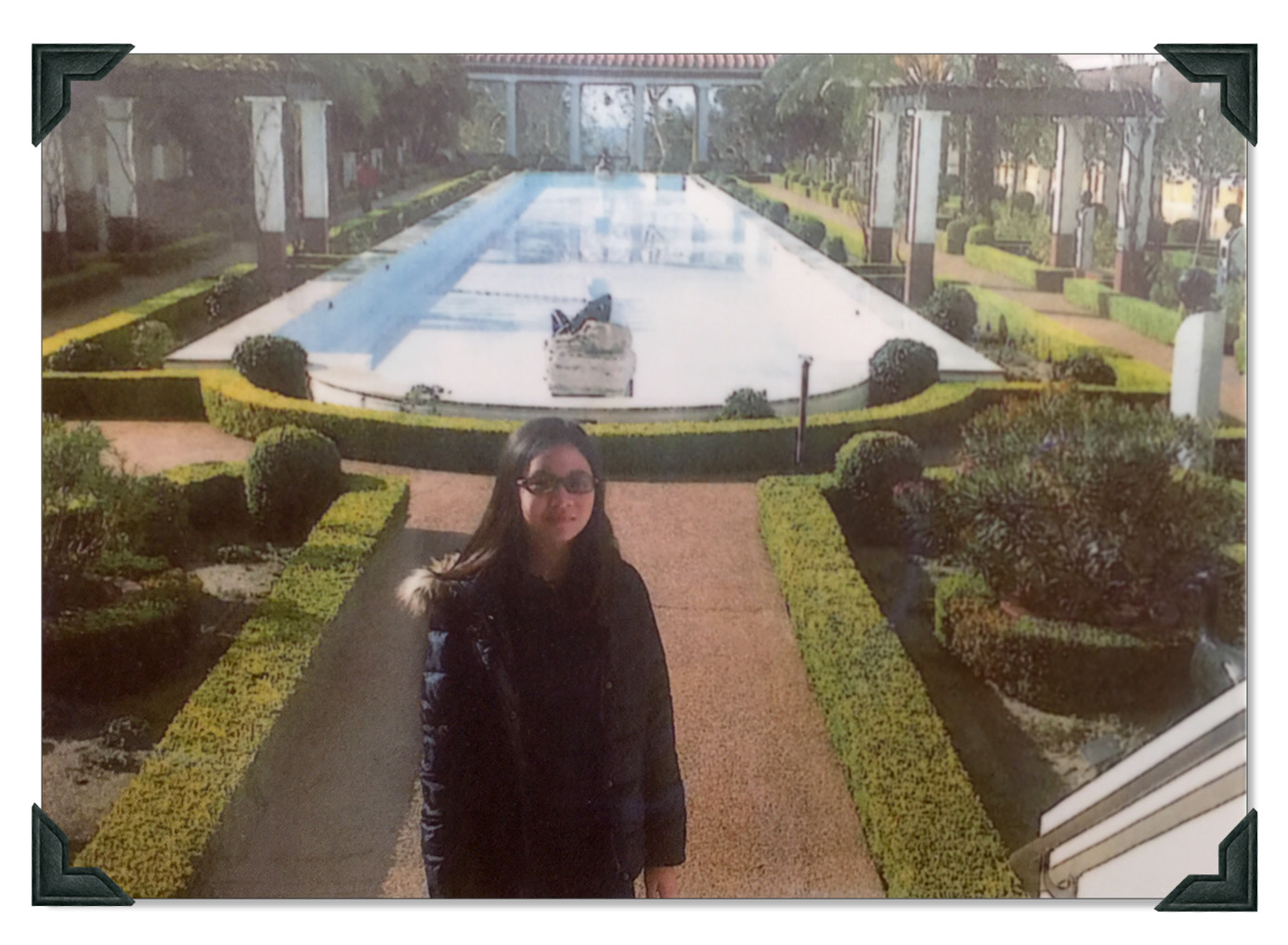 Harper Tzou at the Getty Villa