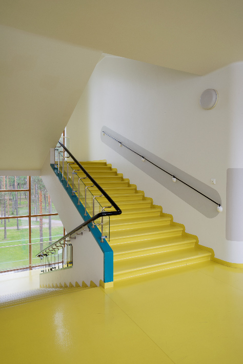 Main stairs of Paimio Sanatorium. Photo: Maija Holma, Alvar Aalto Museum