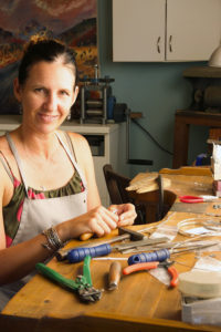 Jivita Harris-Casey in her studio