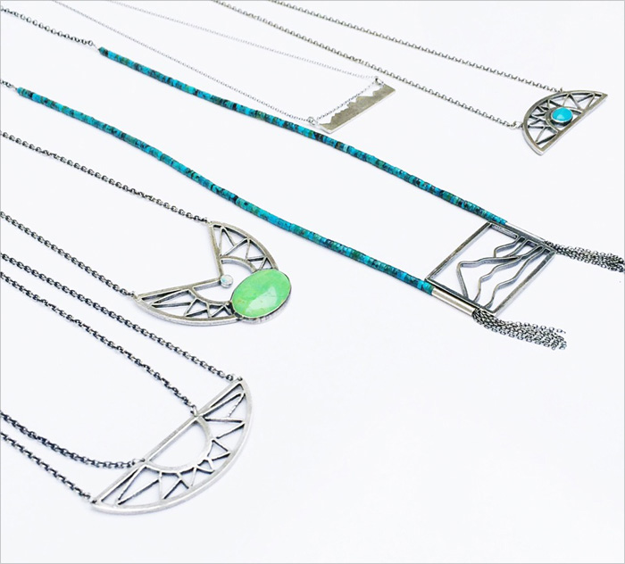 Silver jewelry designed by Jivita Harris-Casey