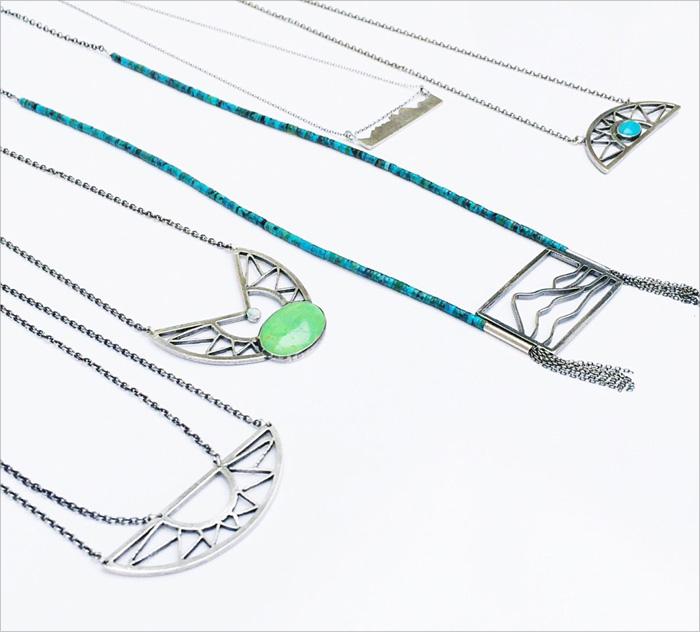 Silver jewelry designed by Jivita Harris-Casey