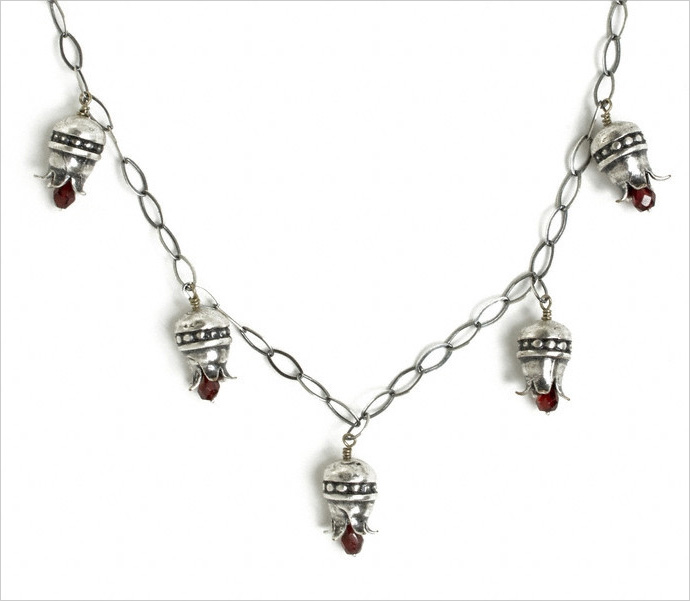 Pomegranate necklace by Jivita Harris-Casey