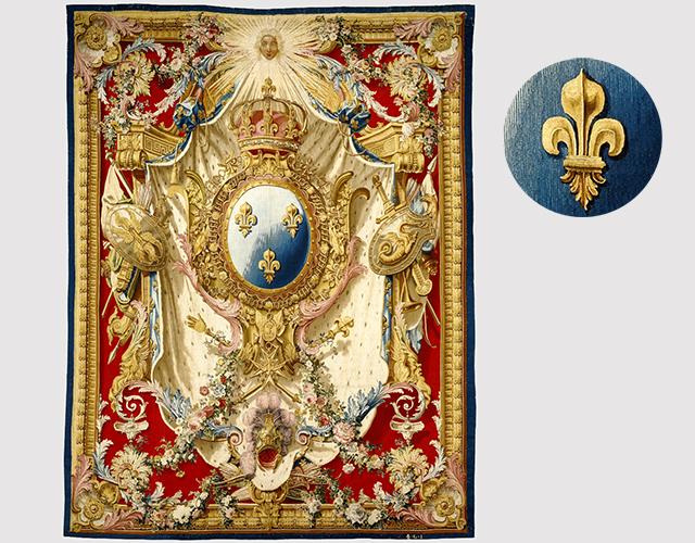 Tapestry: Portière aux Armes de France / Gobelins