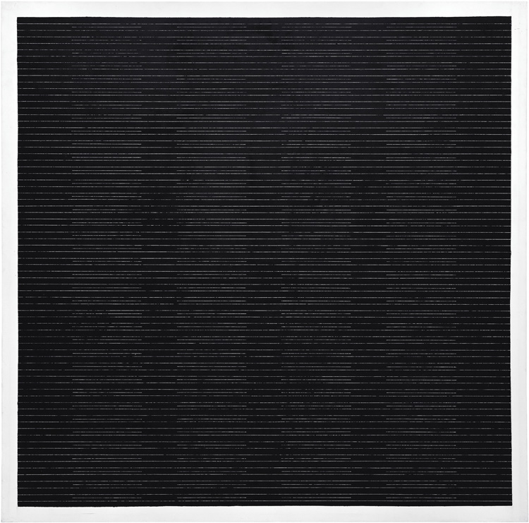 The Sea, 2003, Agnes Martin. Courtesy private collection and Pace Gallery, copyright Agnes Martin/Artists Rights Society