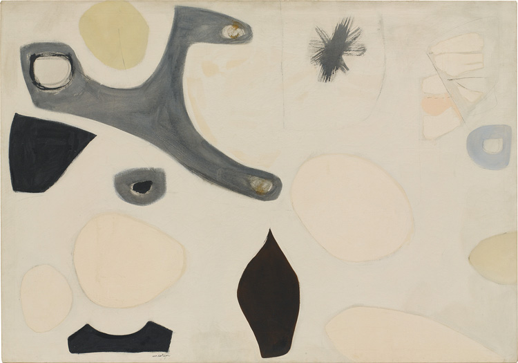 Untitled, c. 1955, Agnes Martin. Courtesy of private collection and Pace Gallery, and copyright Agnes Martin/Artists Rights Society