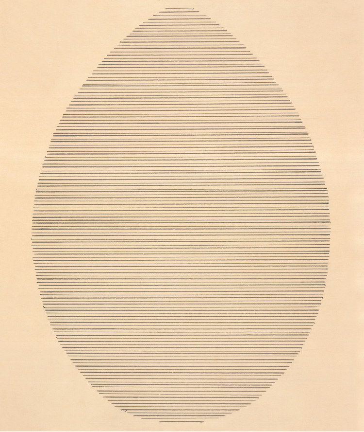 The Egg, 1963, Agnes Martin. Courtesy of The Elkon Gallery, and copyright Agnes Martin/Artists Rights Society