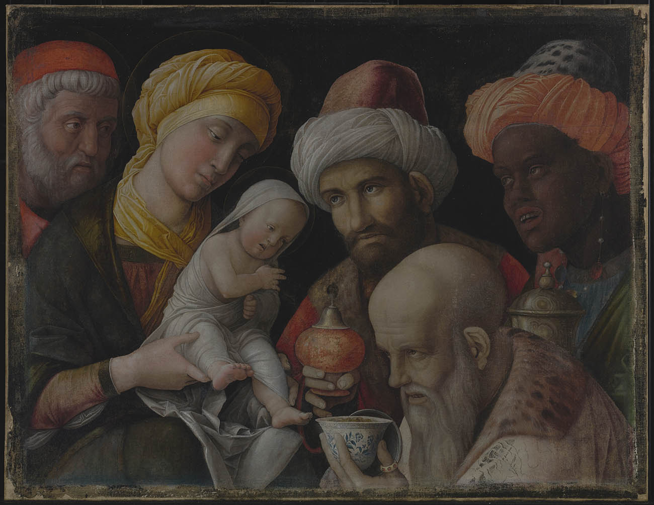<em/>Adoration of the Magi, about 1495–1505, Andrea Mantegna