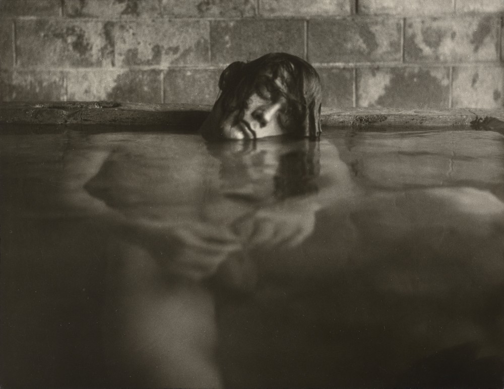 Mineral Baths, Big Sur, California / Edmund Teske (American, 1911 - 1996). Gelatin silver print. 7 5/8 x 9 7/8 in. 84.XM.690.1. Edmund Teske Archives/Laurence Bump and Nils Vidstrand, 2001. The J. Paul Getty Museum, Los Angeles