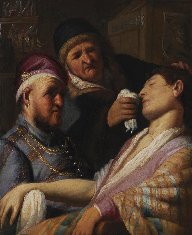 The Unconscious Patient / Rembrandt