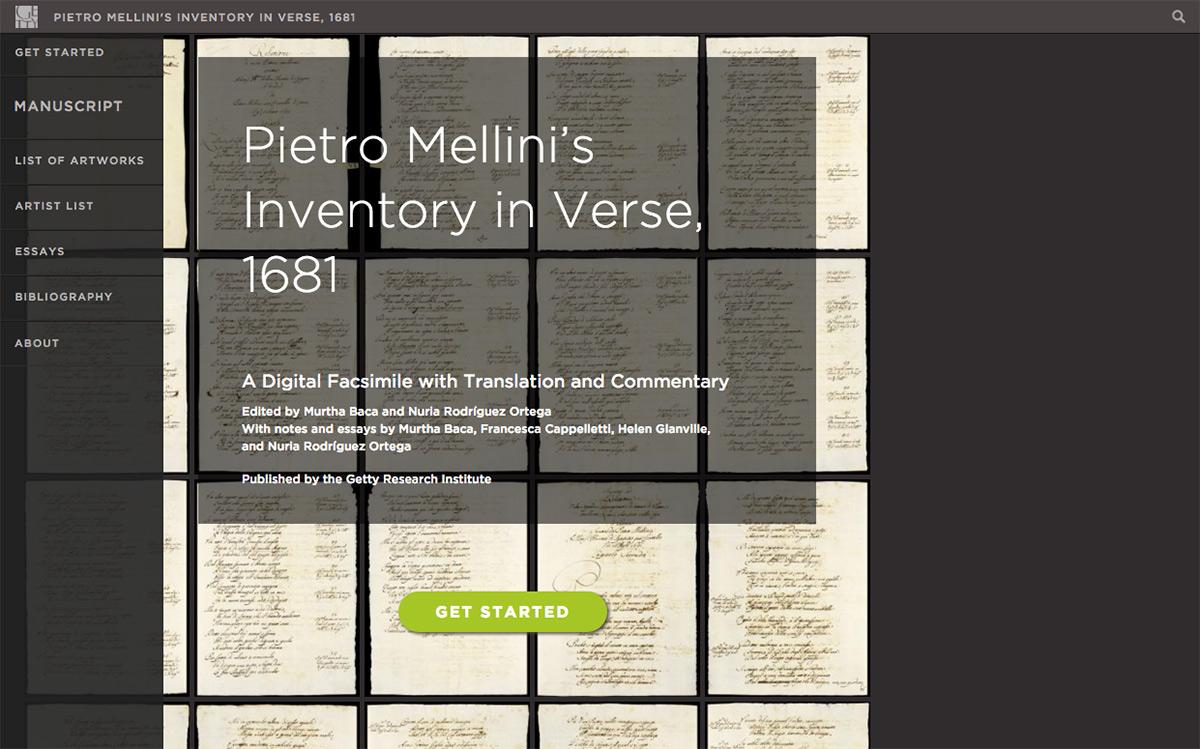 Pietro Mellini's Inventory in Verse, 1681