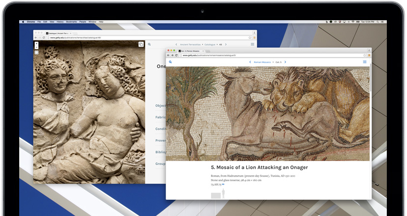 Getty Publications online catalogues