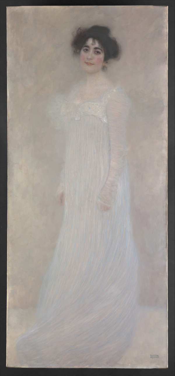 Serena Pulitzer Lederer, 1889, Gustav Klimt. Oil on canvas, 75 1/8 x 33 5/8 in. Purchase, Wolfe Fund, and Rogers and Munsey Funds, Gift of Henry Walters, and Bequests of Catharine Lorillard Wolfe and Collis P. Huntington, by exchange, 1980. Metropolitan Museum of Art, www.metmuseum.org