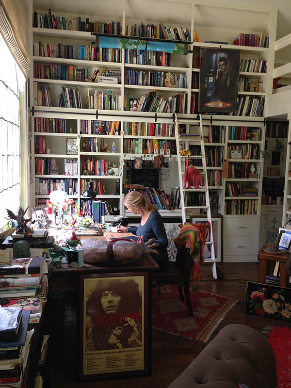 "Children's author Cornelia Funke at work in her studio, ""The Writing House"""