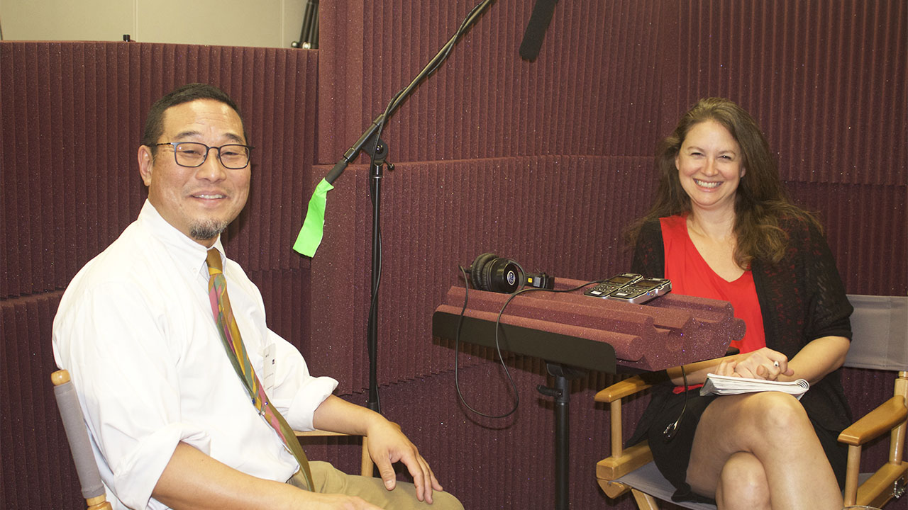 Sound artist Alan Nakagawa and Getty Museum educator Erin Branham