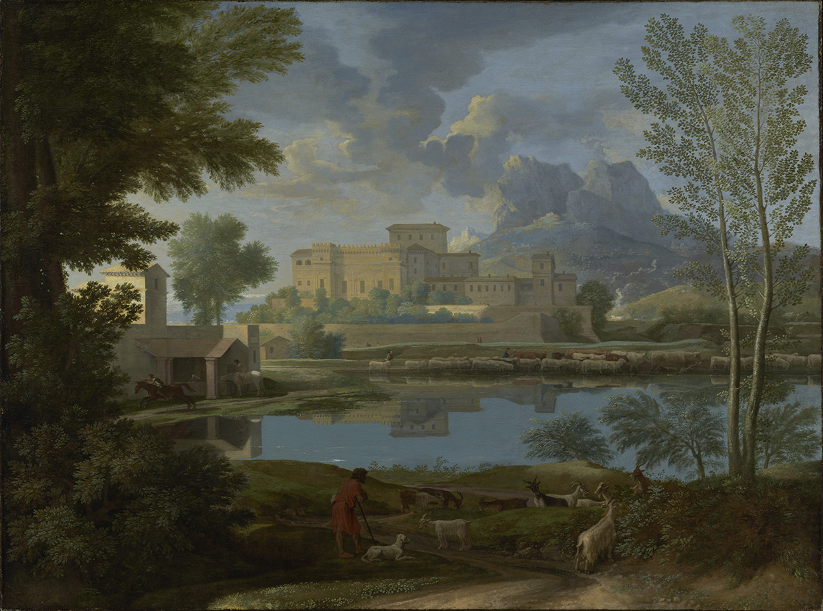 <i/>Landscape with a Calm, 1650–51, Nicolas Poussin