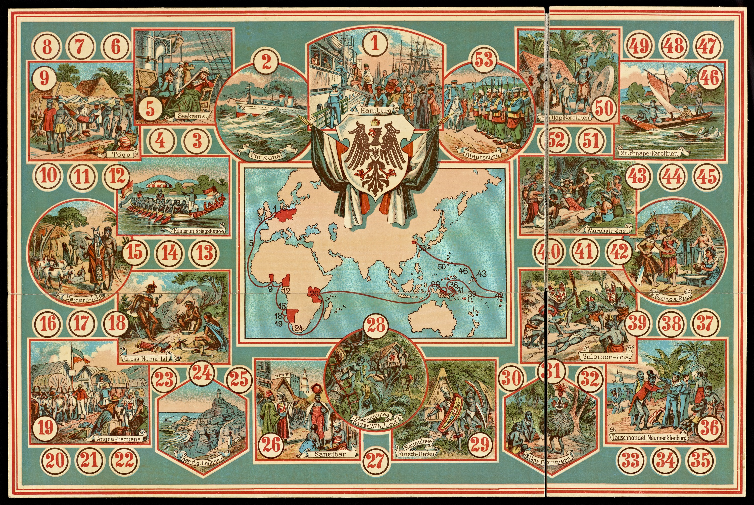 19th Century Board Game Offers A Tour Of The German