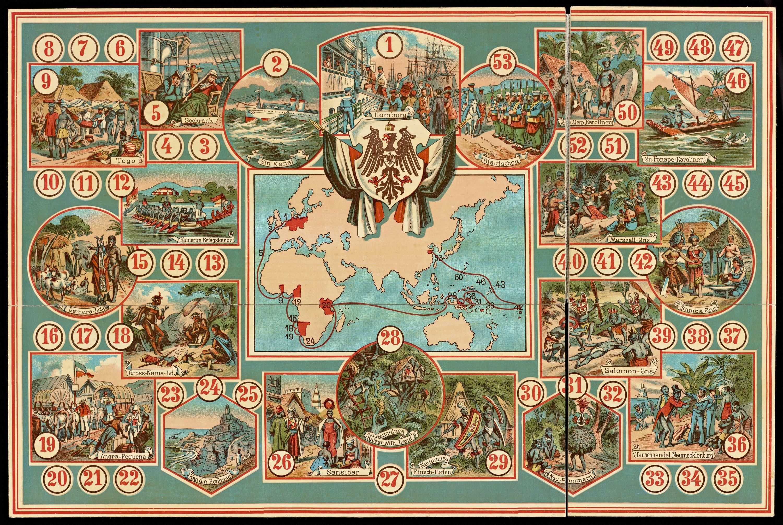 Deutschland's Kolonien-Spiel, Playing Board