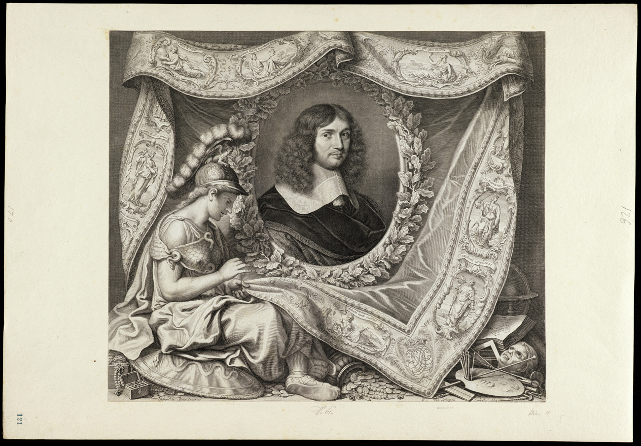 Allegorical Portrait of Jean-Baptiste Colbert, 1664, Philippe de Champaigne. Engraving, 20 1/2 x 29 1/16 in. The Getty Research Institute, 2003.PR.20