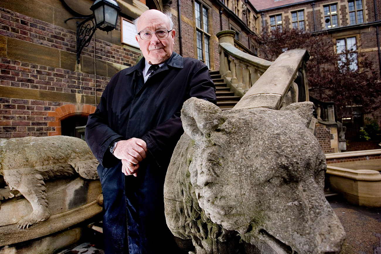 Lord Colin Renfrew Of Kaimsthorn at the Cambridge University, McDonald Institute for Archaeological Research, Britain