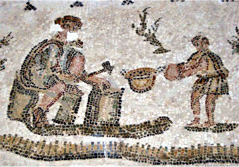 Mosaicists at work, El Alia (Uzalis), Tunisia / Unknown