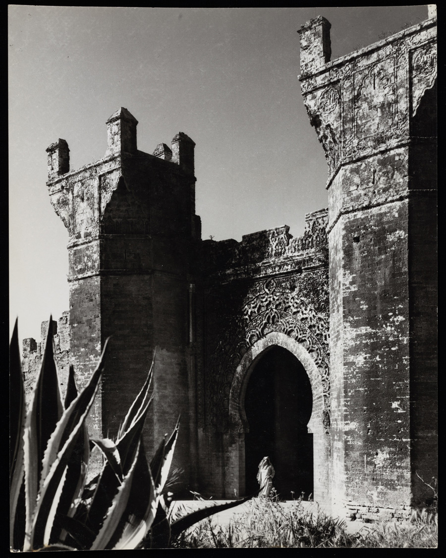 Ruins at Chellah in Rabat, Morocco. Photograph taken 1967 or earlier. Wim Swaan photograph collection, 1951-1995. The Getty Research Institute, 96.P.21. Gift of the Willem A. Swaan Estate