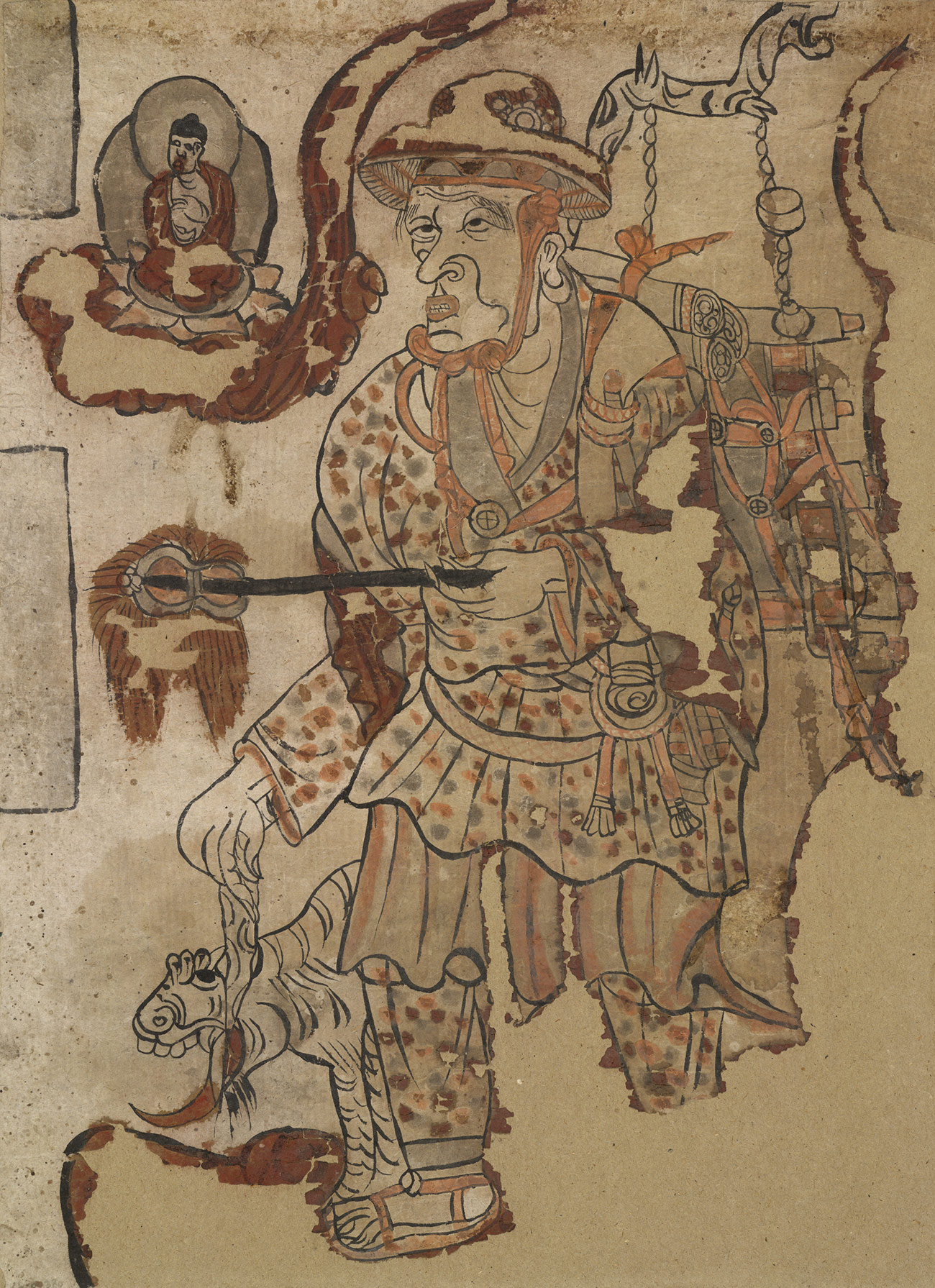 Portrait of a traveling monk found in the Mogao Grottoes