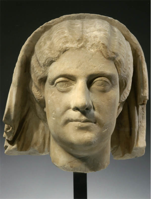Roman marble head recently acquired by the Getty will be re-joined to its Statue of Draped Female.