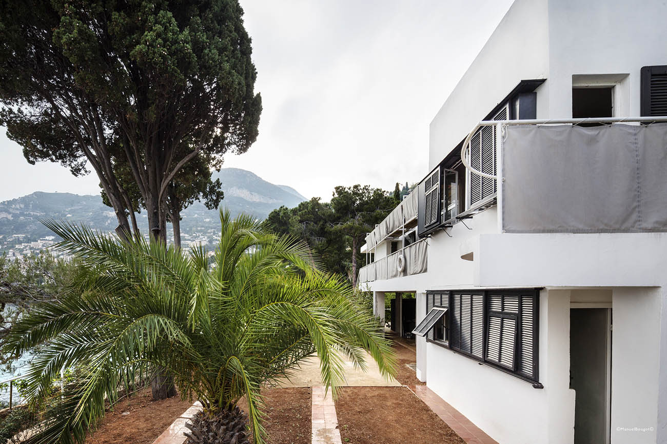 Exterior of Eileen Gray's Villa E-1027 in at Côte d'Azur in southern France.