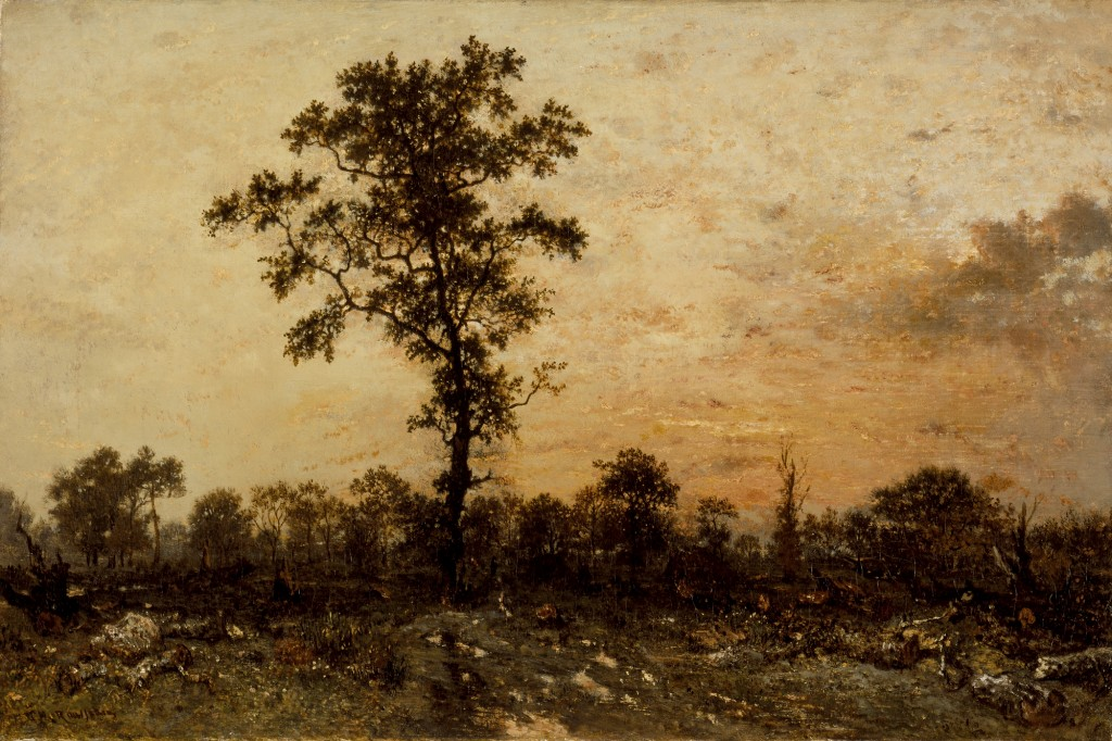 Edge of the Forest, Sun Setting, 1845–46, Théodore Rousseau.