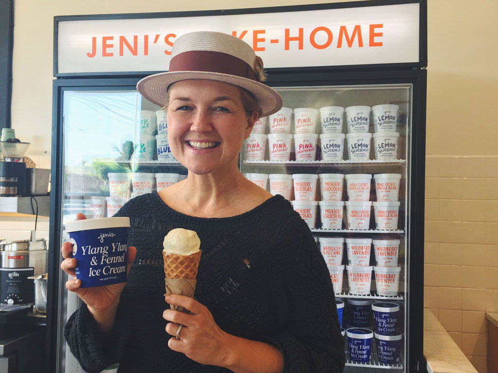 Jeni Britton Bauer at Jeni's Ice Creams in Los Feliz, CA. Photo: Allison Ramirez. © J. Paul Getty Trust. All rights reserved