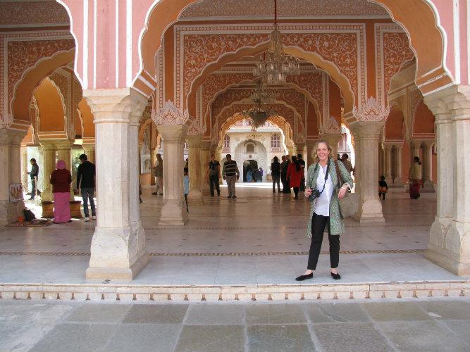 Sarah McPhee in Jaipur, India