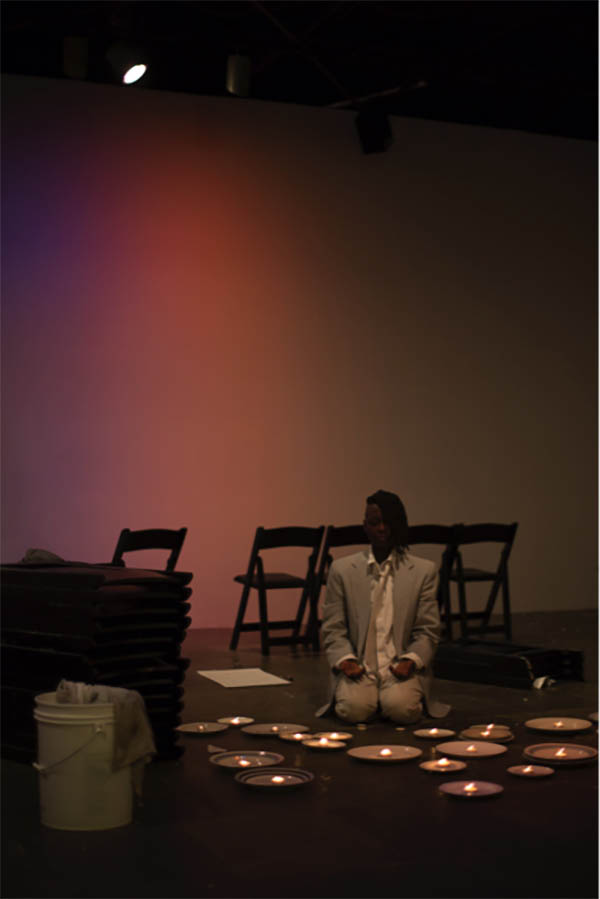 taisha paggett performing Underwaters, (we is ready, we is ready) at the 2014 Whitney Biennial, Whitney Museum of American Art.