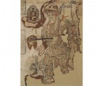 Traveling Monk, ca. 851-900 CE, ink and pigments on paper.