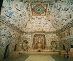 Cave 285, view of the interior, Western Wei dynasty (535–556 CE). Mogao caves, Dunhuang, China.