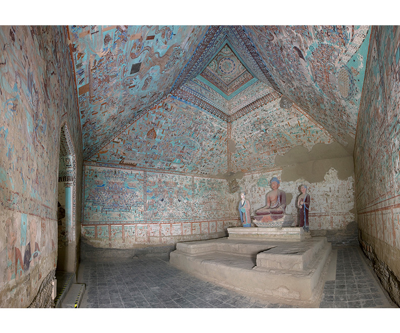Cave 85, view of the interior, Late Tang dynasty (848–907 CE). Mogao caves, Dunhuang, China.