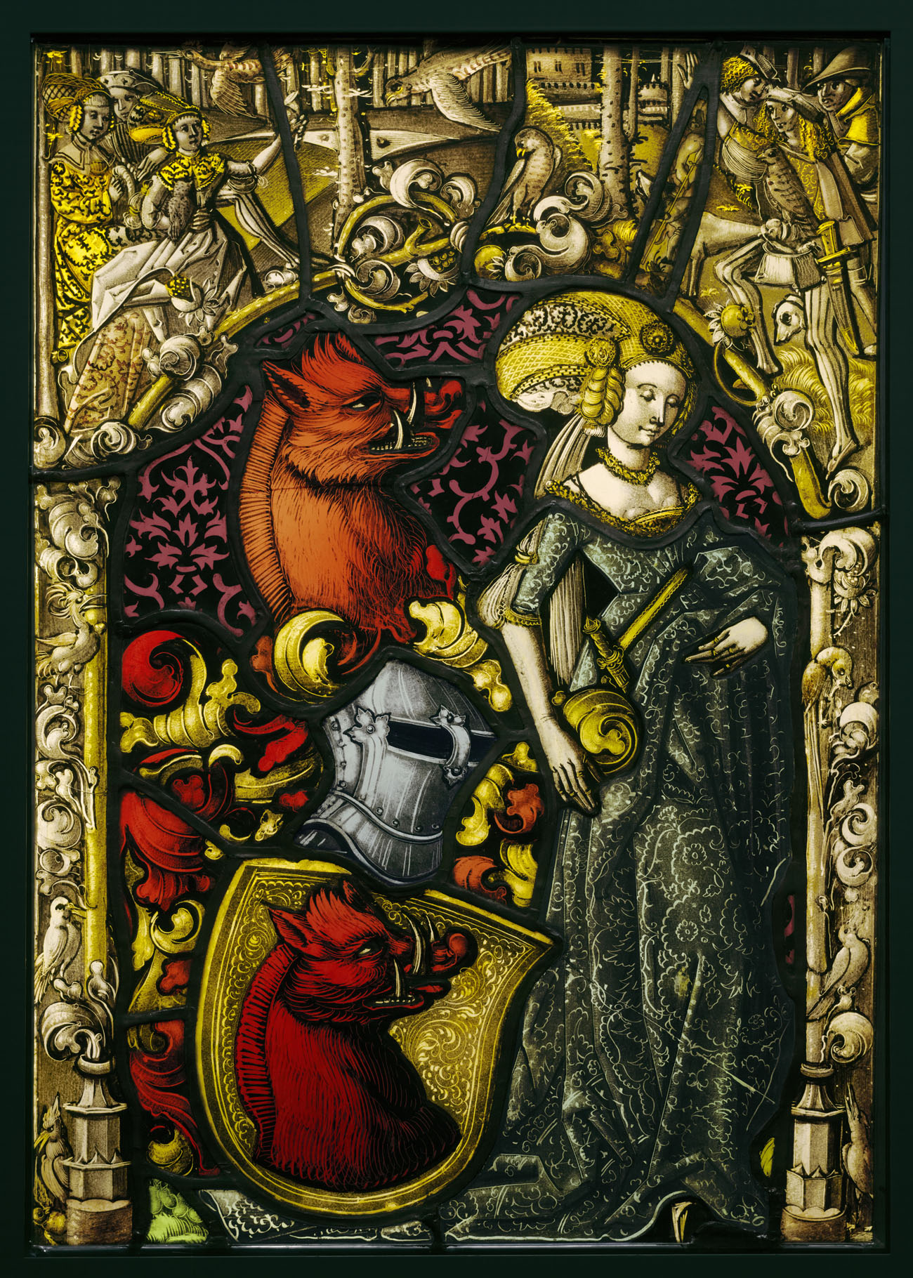 Heraldic Panel with the Arms of the Eberler Family / unknown